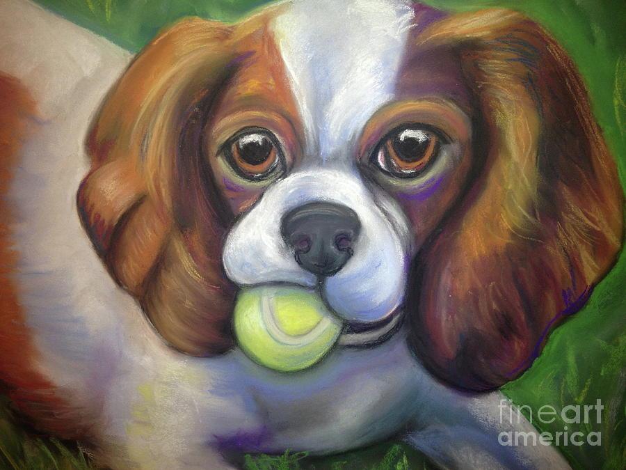 King Charles Pastel - Got Balls? King Charles by Ann Hoff