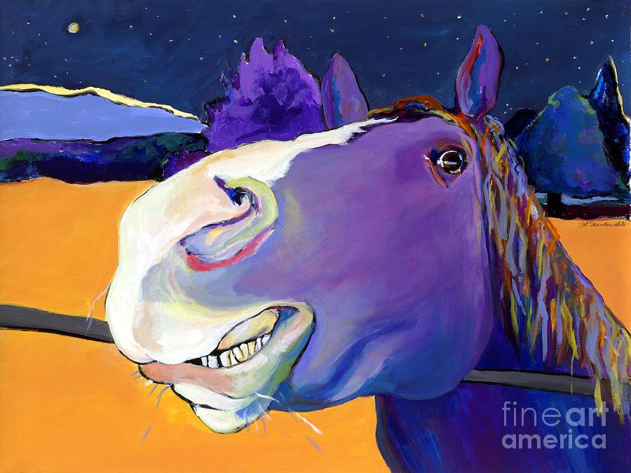 Barnyard Animal Painting - Got Oats      by Pat Saunders-White