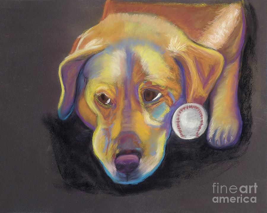 Dogs Pastel - Gotballs4pets? Golden Lab by Ann Hoff
