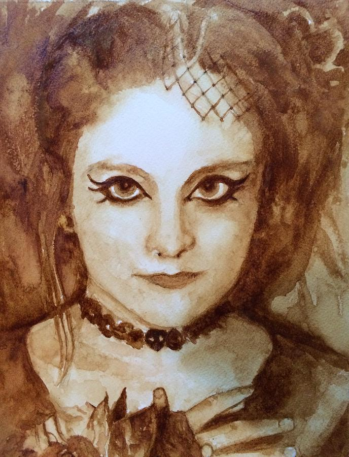 Goth Painting - Goth Lady by Chrissey Dittus