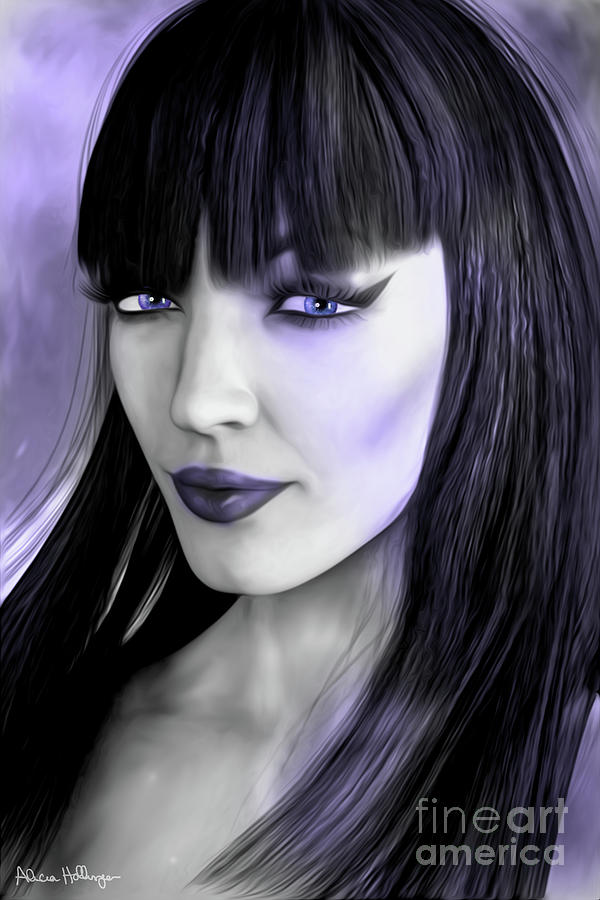 Goth Portrait Purple by Alicia Hollinger