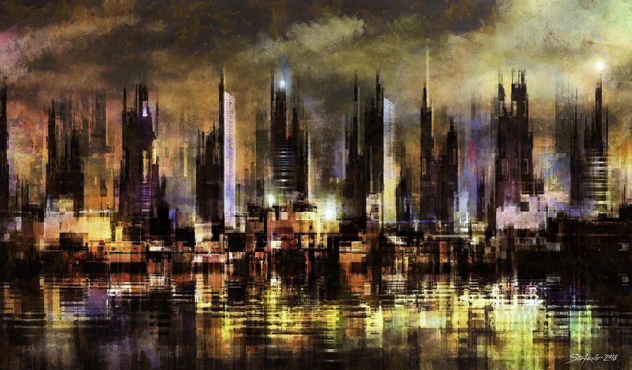 Gotham Digital Art - Gotham City III by Stefano Popovski