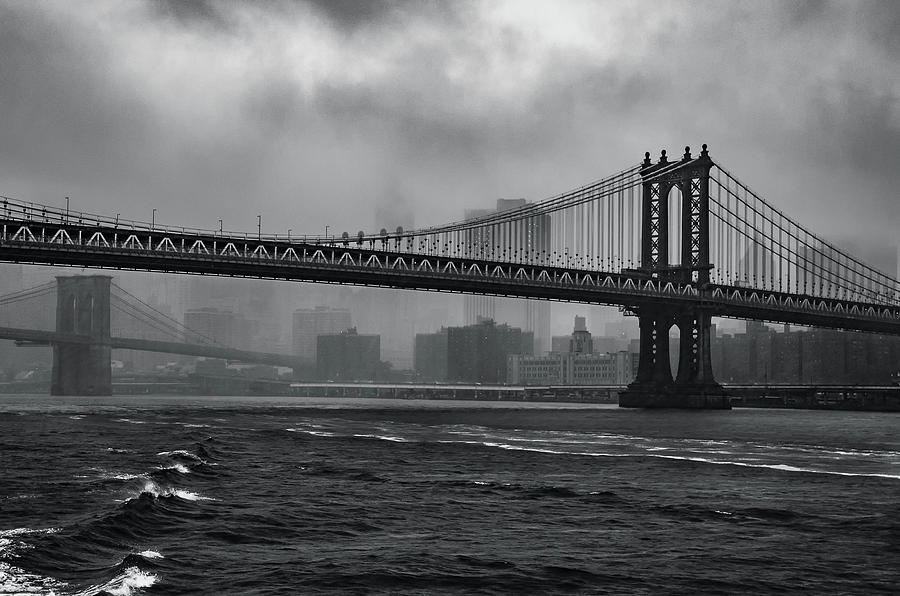 Manhattan Bridge in a Storm by Adam Reinhart