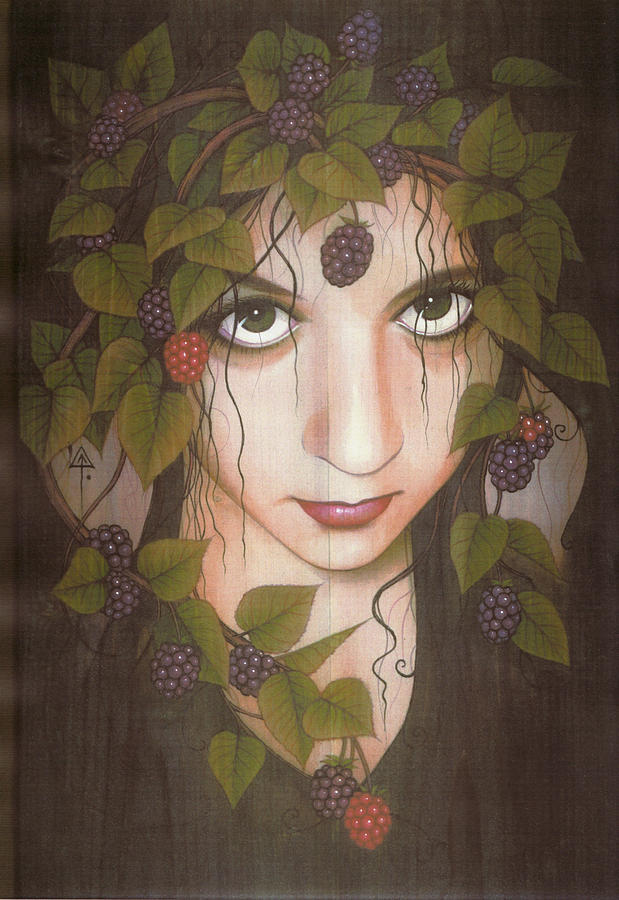 Fairy Painting - Gothberry by Yuri Leitch