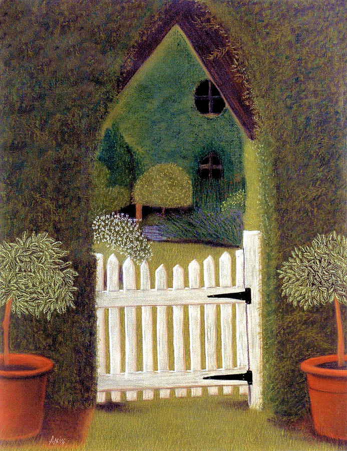 Landscapes Pastel - Gothic Gate by Jan Amiss