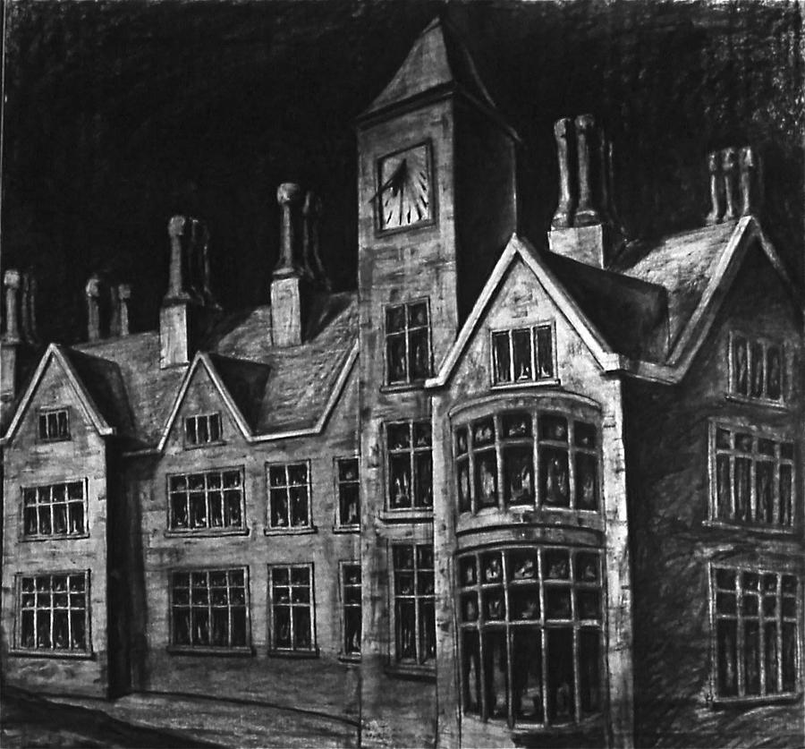 Gothic Manor House Drawing By Chris Riley