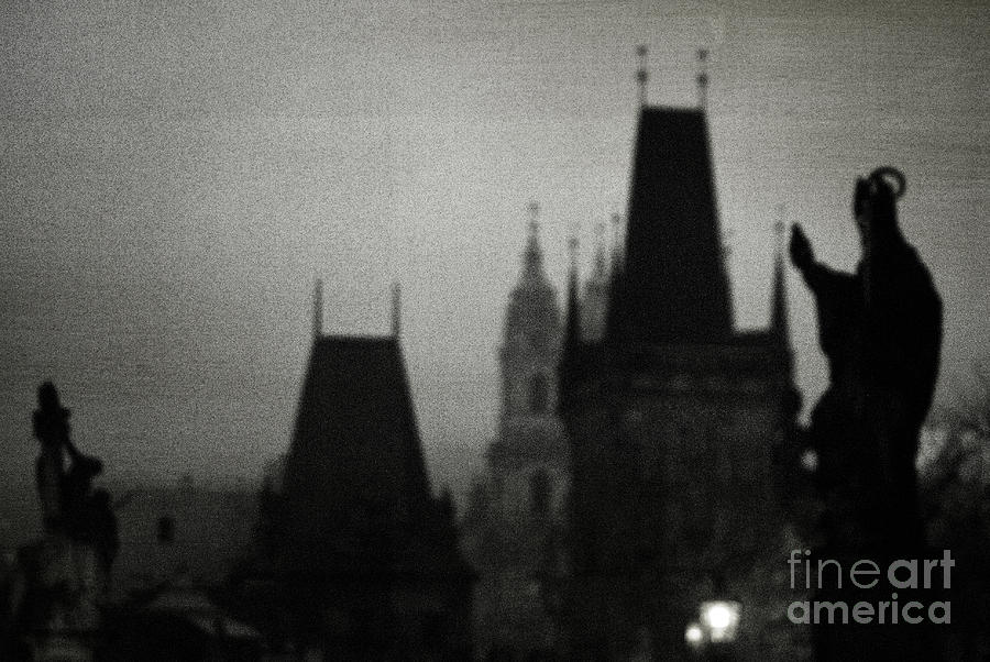 Prague Photograph - Gothic Nights by Sharon Coty