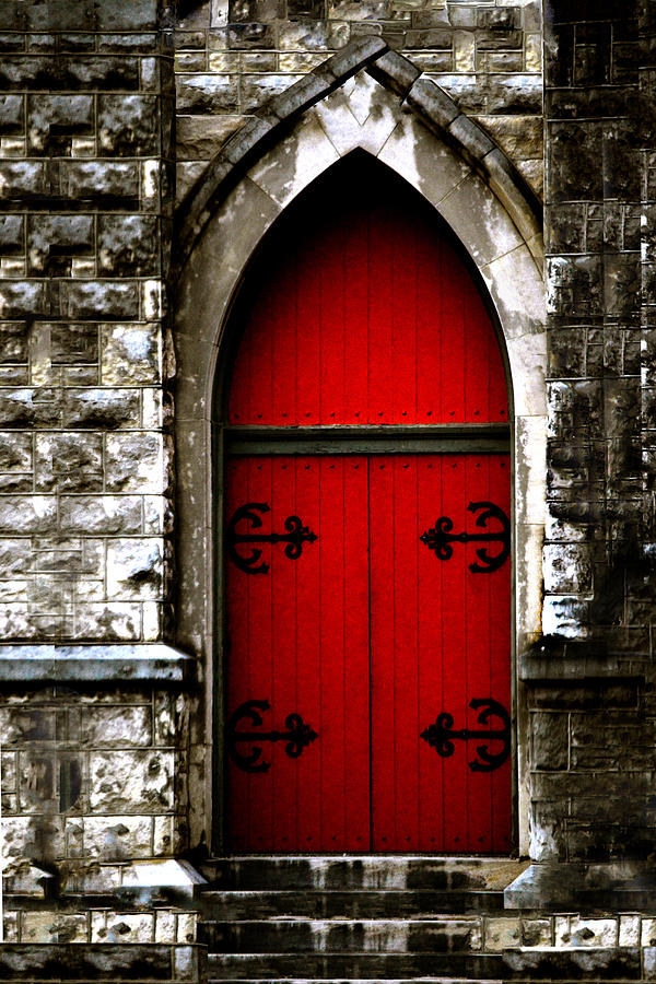 Charmant Door Photograph   Gothic Red Door Memphis Church By Lesa Fine