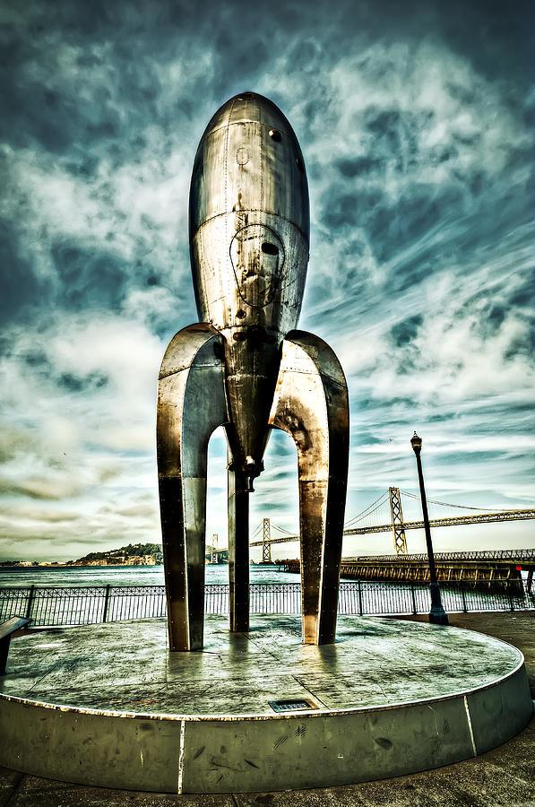 Gothic Rocketship Ray Gun by John Maffei
