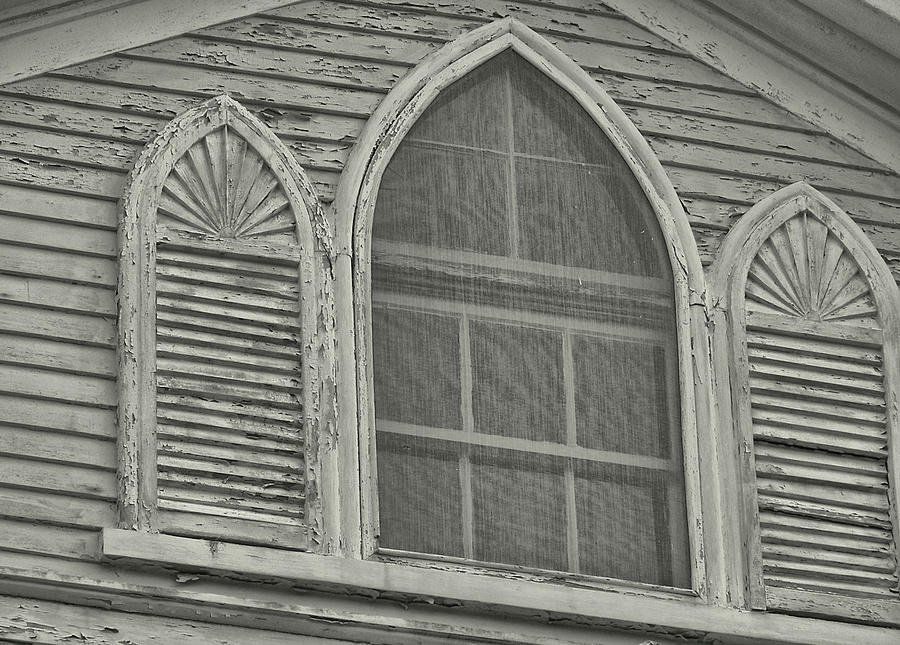 Nantucket Photograph - Nantucket Gothic Window  by JAMART Photography