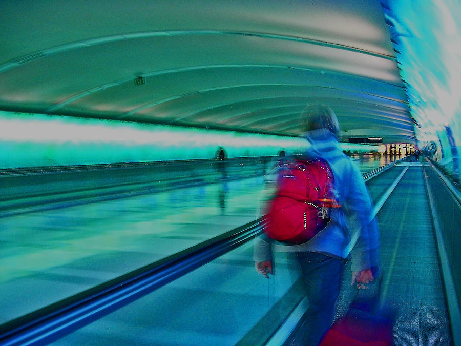 Digital Photograph - Gotta Catch My Plane by Elizabeth Hoskinson