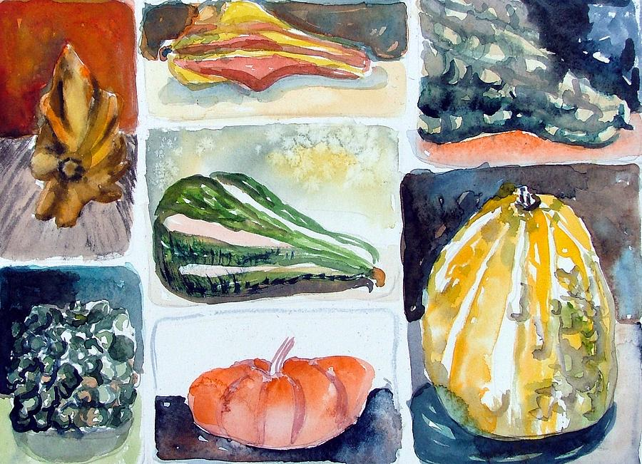 Gourd Painting - Gourd Collection by Mindy Newman
