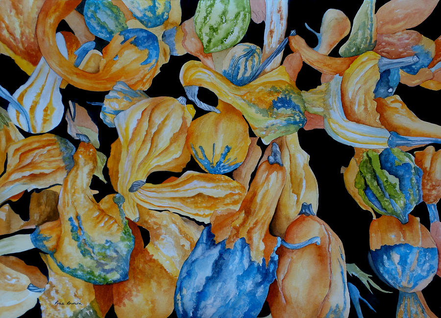 Gourds Painting - Gourds Galore by Rosie Brown