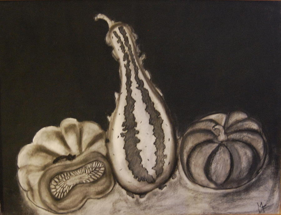 Drawings Drawing - Gourds by Michele Flannery