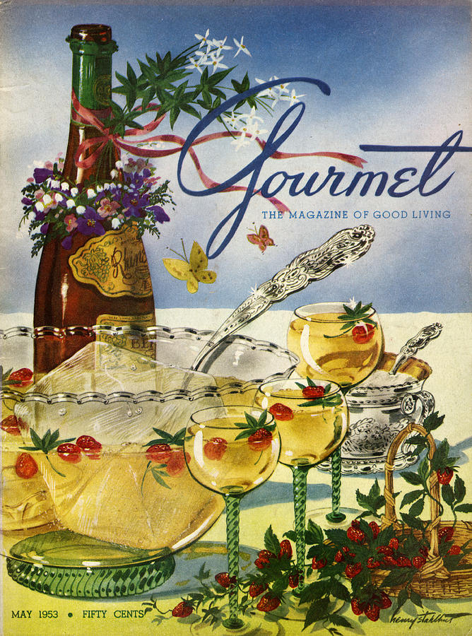 Gourmet Cover Featuring A Bowl And Glasses Photograph by Henry Stahlhut