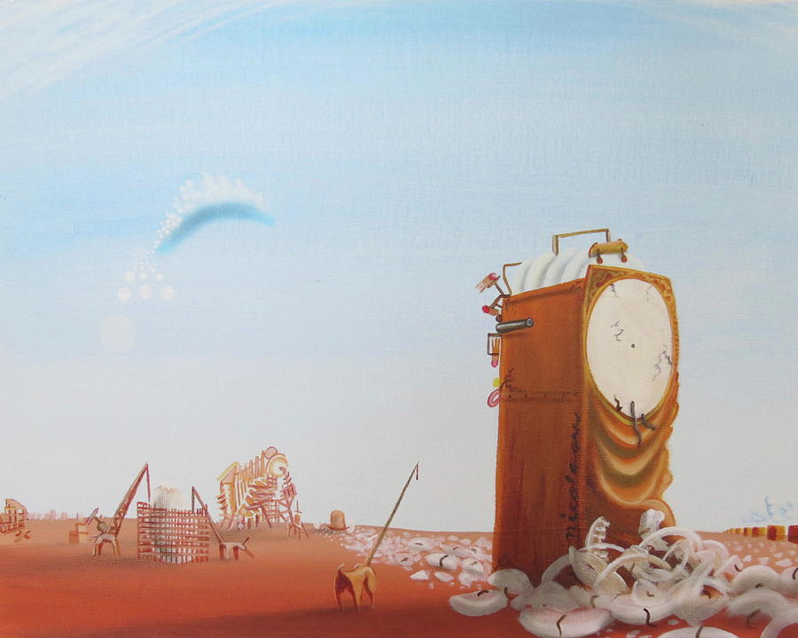 Grandfather Clock Painting - Government Clock by Michael Steven Nicolaou