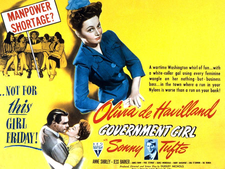 1940s Movies Photograph - Government Girl, Olivia De Havilland by Everett