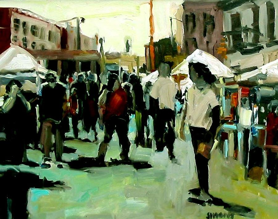 Street Paintings Painting - Government Street by Brian Simons