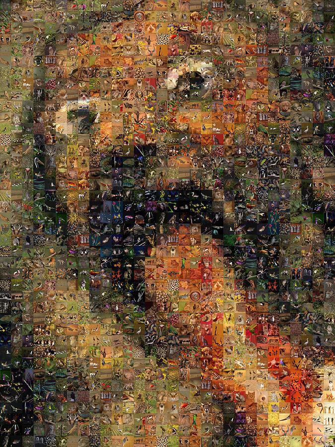 Mosaic Digital Art - Goya - Saturn by Gilberto Viciedo