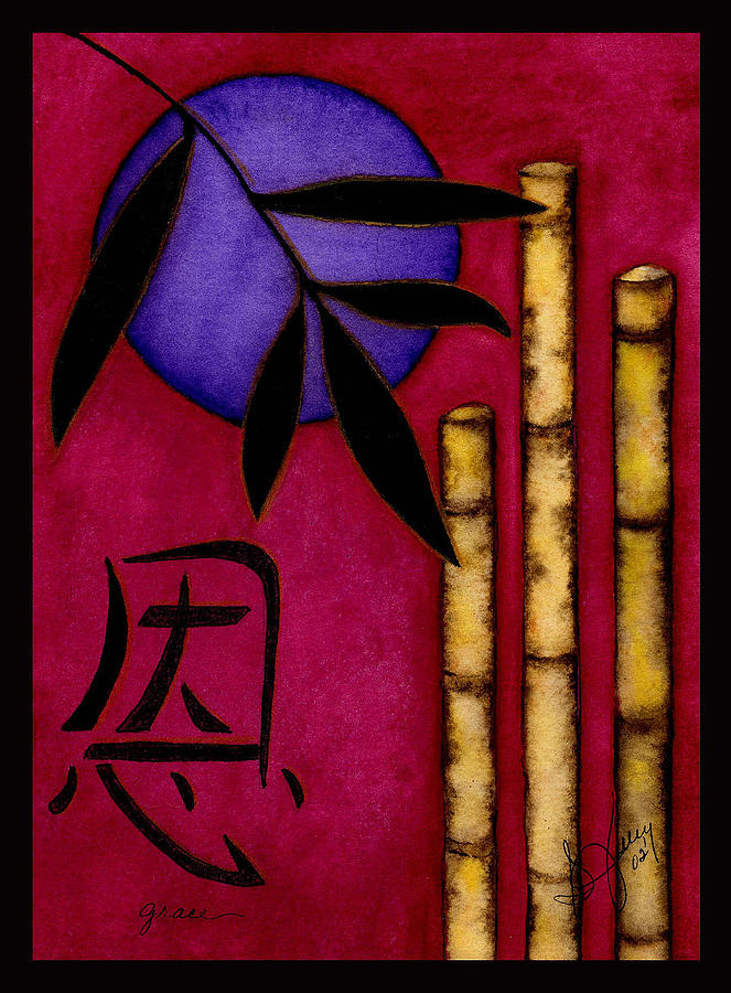 Bamboo Painting - Grace - The Art Of Balance by Stephanie  Jolley