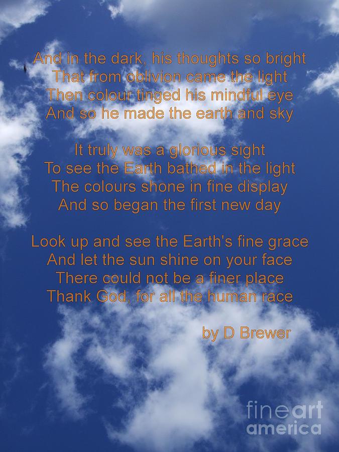 Poetry Photograph - Grace by Deborah Brewer