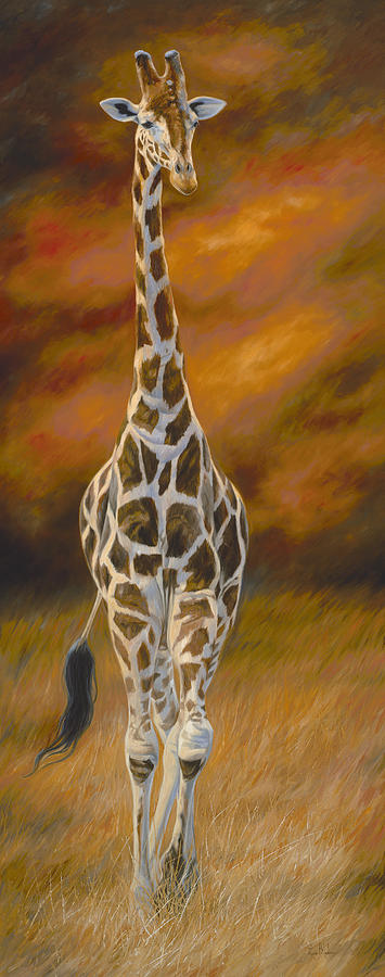 Giraffe Painting - Grace in Motion by Lucie Bilodeau