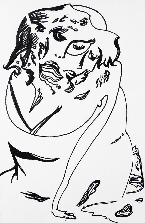 Pen Drawing - Grace by Joseph Demaree