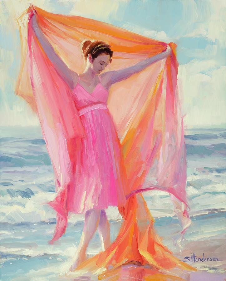 Beach Painting - Grace by Steve Henderson