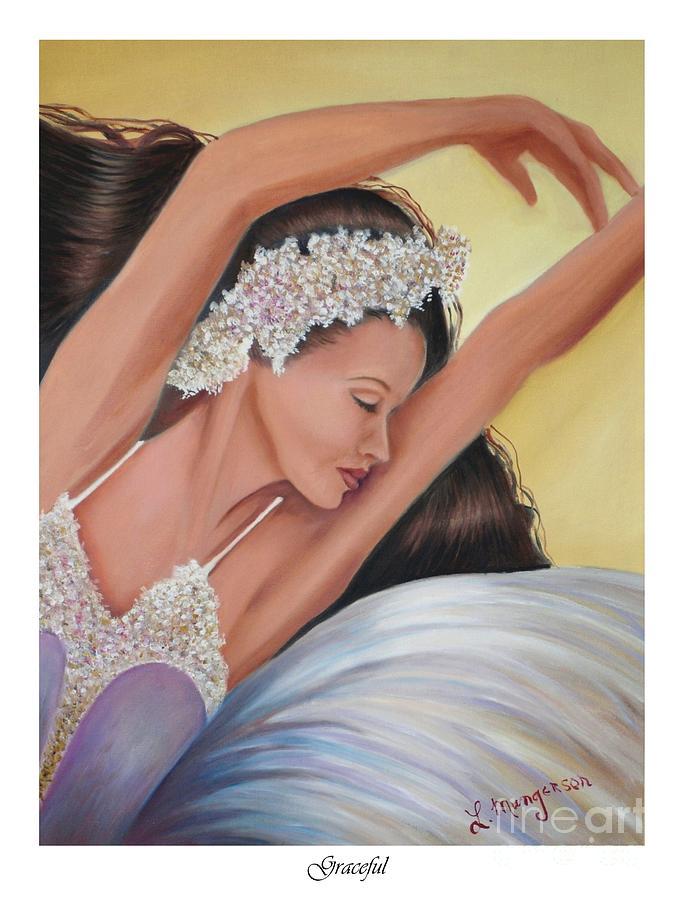 Ballerina Painting - Graceful by Linda Mungerson