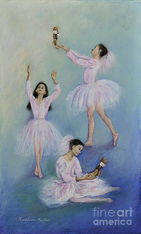 Children Pastel - Graceful One by Kathleen Keller