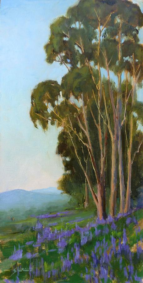 Eucalyptus Trees Painting - Graceful Sentinels by Sharon Weaver