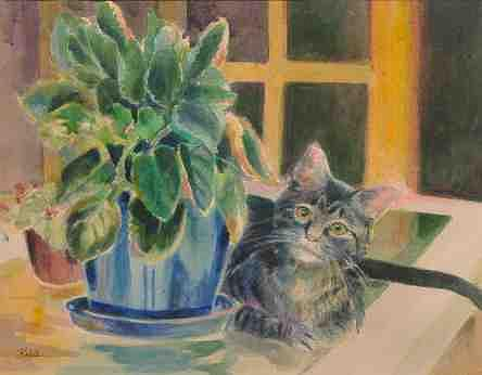 Gracie Painting by Carol Kable