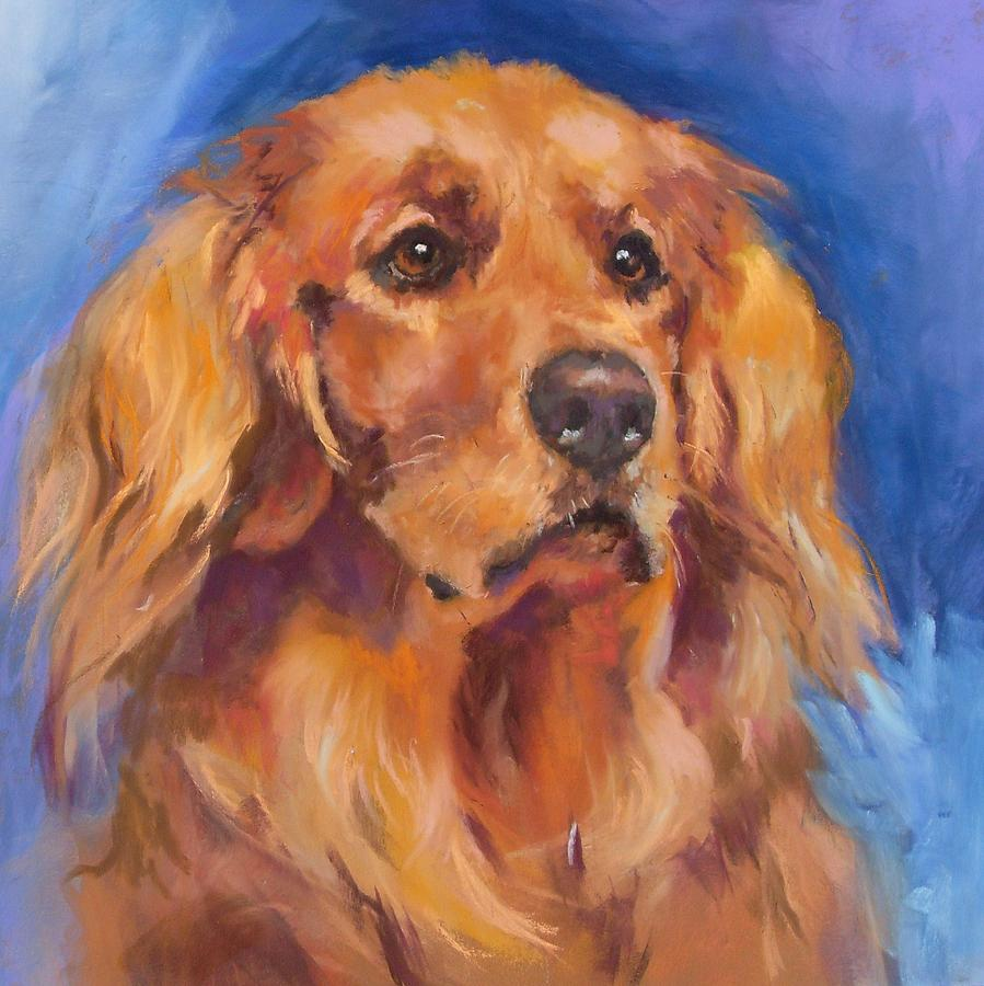 Golden Retriever Painting - Gracie by Debbie Anderson
