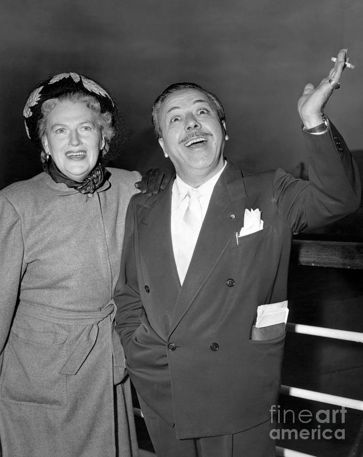 Gracie Fields And Husband, Monty Banks. Photograph by Barney Stein