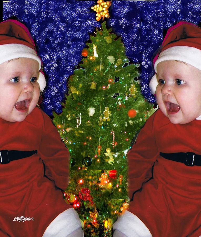 Christmas Digital Art - Gracies Christmas Tree by Seth Weaver