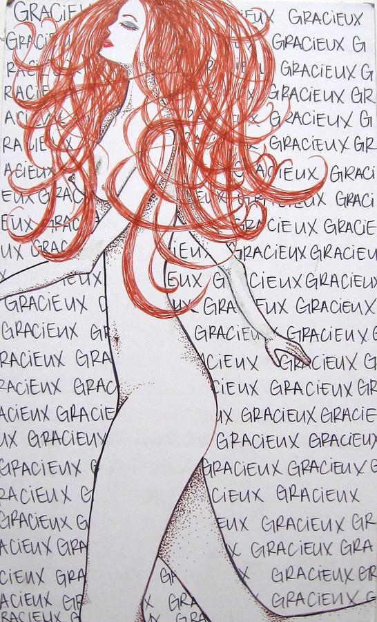 Gracieux Drawing by Sara Ashley