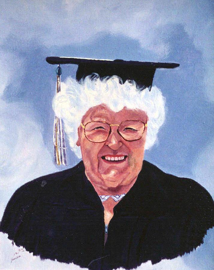 Graduation At 75 Painting by Stan Hamilton