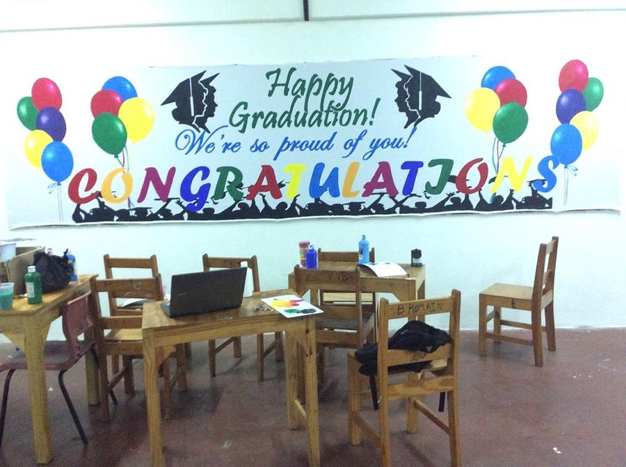Graduation Banner Painting by Larry John