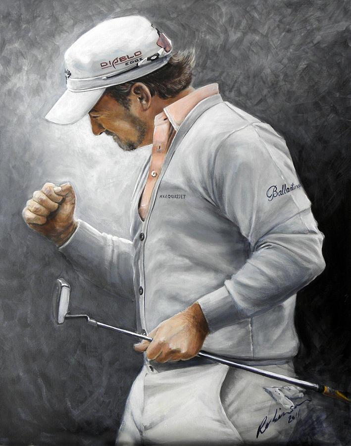 Gmac Painting - Graeme McDowell by Mark Robinson