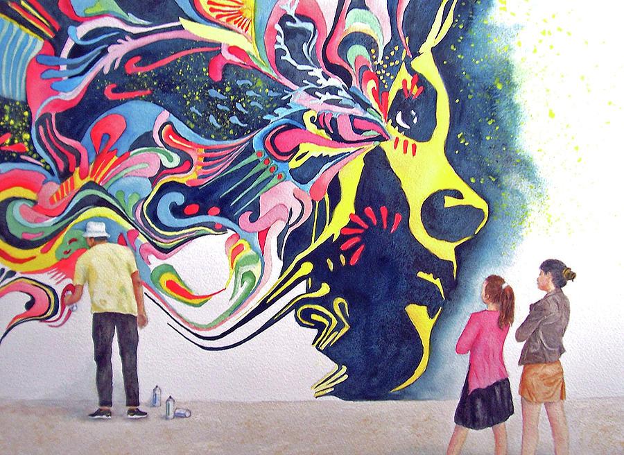 Graffiti Artist At Work By Cherry Woodbury
