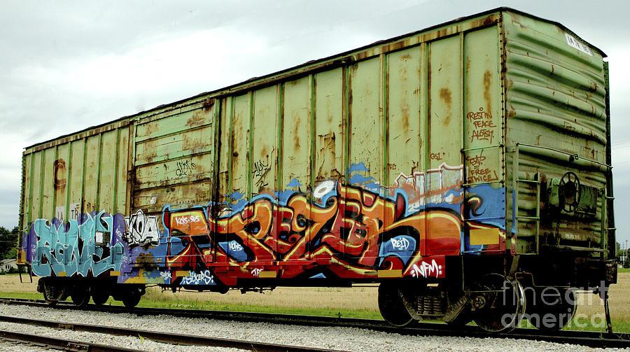 Boxcar Photograph - Graffiti Boxcar by Danielle Allard
