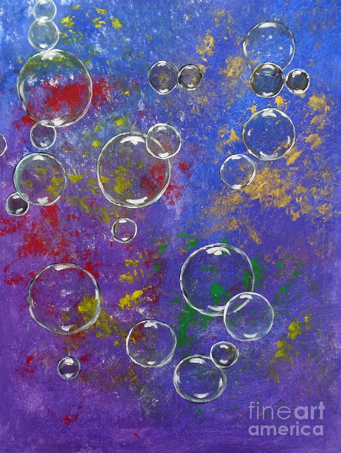 graffiti bubbles painting by karen jane jones