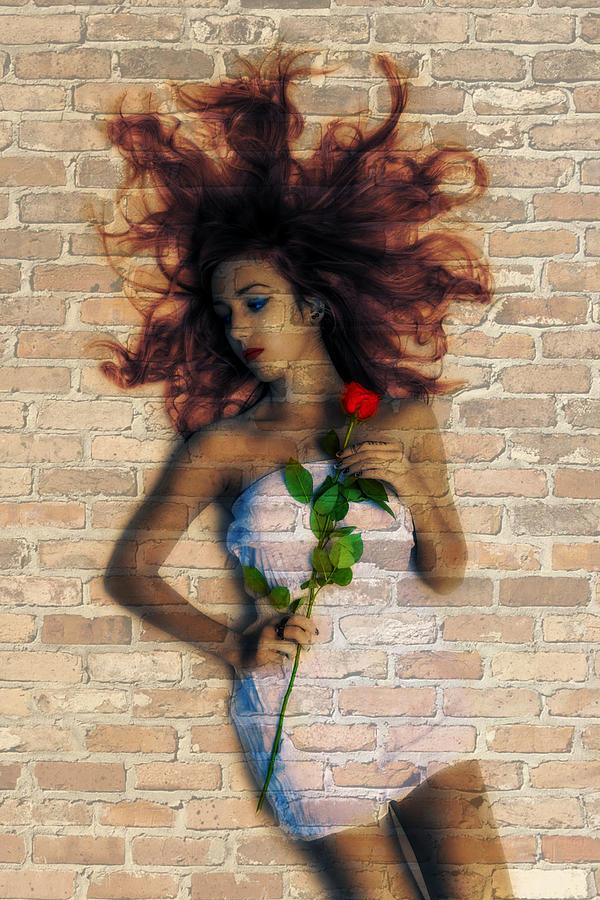 Graffiti Photograph - Graffiti Girl by Digital Art Cafe