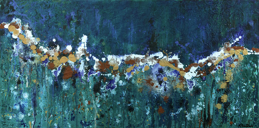 Abstract Painting - Confetti Junction by K Batson Art