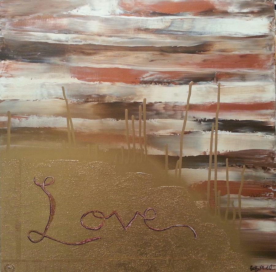 Graffiti Love Painting by Brittany Houchin