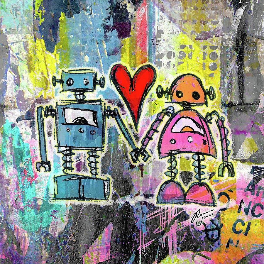 Graffiti pop robot love