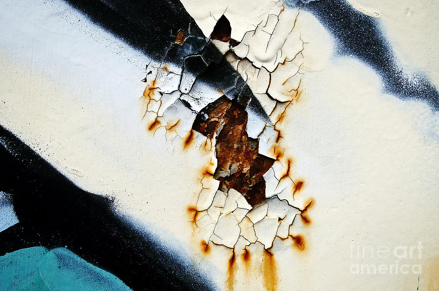 Abstract Photograph - Graffiti Texture II by Ray Laskowitz - Printscapes