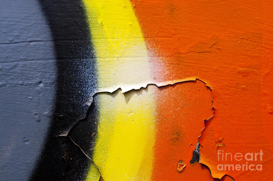 Abstract Photograph - Graffiti Texture Iv by Ray Laskowitz - Printscapes