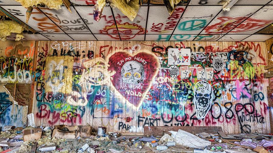 Graffiti Photograph - Graffiti Town by Stephen Stookey