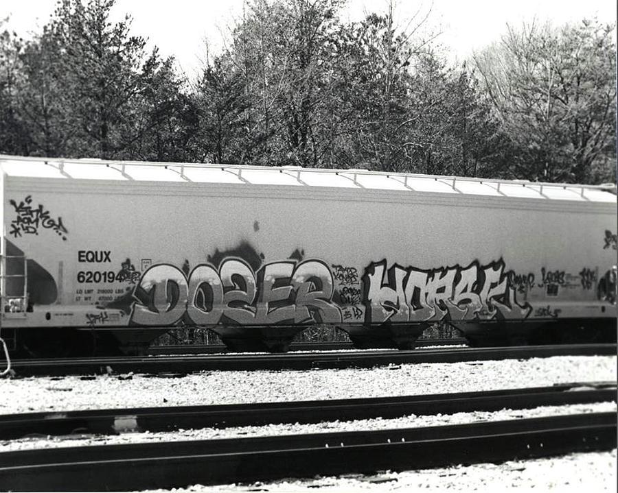Trainyard Photograph - Graffiti Train by Chelsea Hudgens